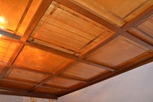 Obývací pokoj - kazetový strop